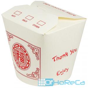 Контейнер бумажный CHINA PACK   750мл Н95хD95 мм с декором ОРНАМЕНТ   1/50/500