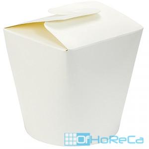 Контейнер бумажный CHINA PACK   450мл Н100хD83 мм БЕЛЫЙ   1/5000