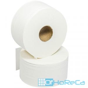 Бумага туалетная   Н95хD180 мм 2-сл 168 м/рул FOCUS JUMBO MINI с тиснением БЕЛАЯ   ''HAYAT''   1/36